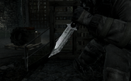 Combat Knife held by Price Stronghold MW3