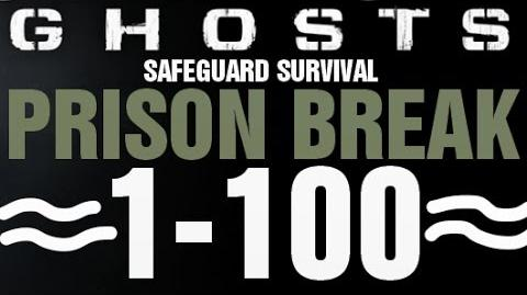 Prison Break Rounds 1-100 Full Gameplay - Call of Duty Ghosts Safeguard Survival Infinite Completed