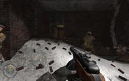 Comrade Sniper jumping CoD2