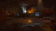 Gniew starozytnych ogien kominek pomieszczenia mieszkalne
