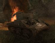 Destroyed Sherman CoD WaW FF