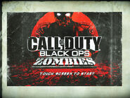 Black Ops Zombies Mobile starting screen