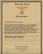 CoD WWII Gestapo invesigation note