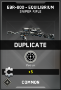 Duplicate Supply Drop Card IW