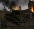 Destroyed Sherman CoD2 BRO