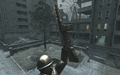 PPSh-41 held by statue Bloc COD4
