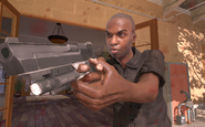 Rojas's assistant holding the Desert Eagle MW2