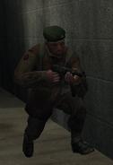 Майор Инграм вооружён Maschinepistole 40