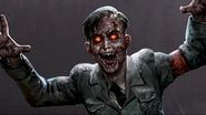 A zombie in the Tag Der Toten outro