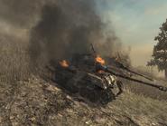 Destroyed Tiger II tanks WAW