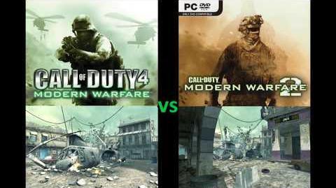 """CoD4 vs MW2 """"Crash"""" Multiplayer Map Comparison"""