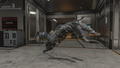 Spectre leaping backwards with the Shadow Blade BO4