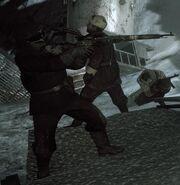 Steiner holding his Mosin-Nagant