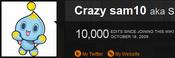 Personal Crazy sam10 milestone 7