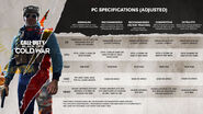 PC Specifications BOCW