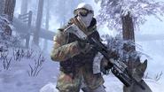 Русский в зимнем лесу 2