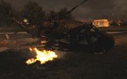 Crashed UH-60