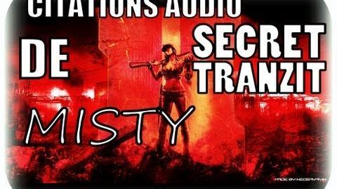 """Black Ops 2 Zombie """"Secret Tranzit"""" ( Toutes les citations audio de Misty )"""