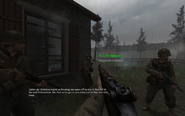 Spawn point Approaching Hill 400 CoD2