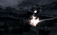 Blackhawk being hit by Stinger COD4