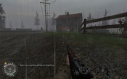 Enemy MG on dirt road Approaching Hill 400 CoD2