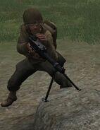 Ranger using M1919 CoD2