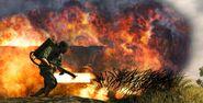Burning-Flamethrower