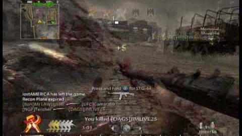 Call OF DUTY 5 WORLD AT WAR Bayonet Montage 150 kills