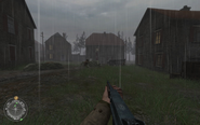 Approaching swastika house Approaching Hill 400 CoD2