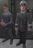 Kriegsmarine Officer and Sailor Guarding Armory