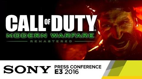 COD Modern Warfare Remastered Gameplay Trailer at E3 2016