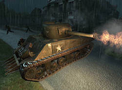 M4 Sherman hedgecutter CoD2.png