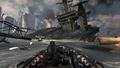 Boat chase and destroyed carrier Hunter Killer MW3