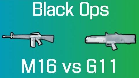 Call of Duty Black Ops M16 vs G11