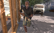 Rojas's assistant running with AK-47 MW2
