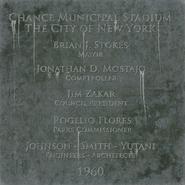 Stadium plaque BO