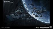 Post-battle debris concept art IW
