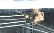 Hotel Polissya being destroyed