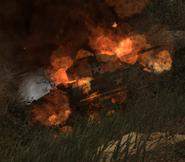 Burning Sherman CoD WaW FF