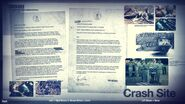 Crash site intel