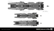 UNSA Destroyer Concept Early by Benjamin Last IW
