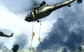Marines rappeling from UH-60 Charlie Don't Surf COD4