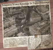 Makarov Vows Revenge In Taped Message Article
