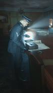 Gestapo soldier check briefcase WWII