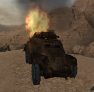 Sd. Kfz. 222 destroyed CoD WaW FF