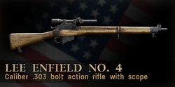 Lee-Enfield scoped menu icon CoD3.png