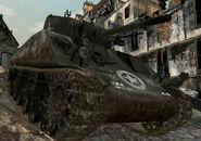 M4 Sherman traversing rubble CoD3
