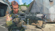 Battery with War Machine third-person in-game BO4