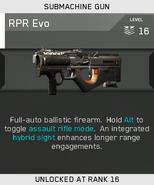 RPR Evo Unlock Card IW
