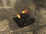 Destroyed T-34 WAW